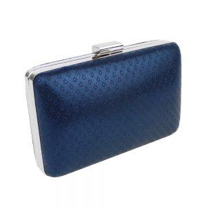 mini pochette bleu et argent