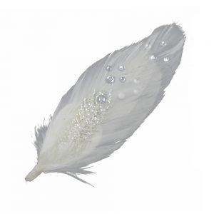 pads plume lise blanc