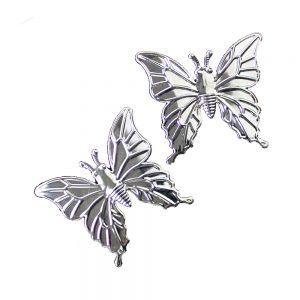 papillon xl laiton (2 unites) argent 2