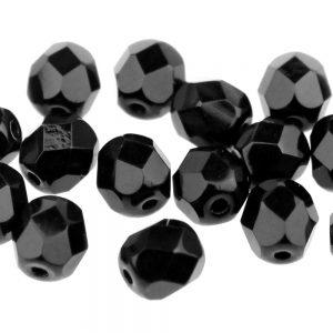 perle cristal facetee 06 mm noir