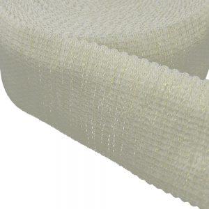 ruban elastique elegant blan et or