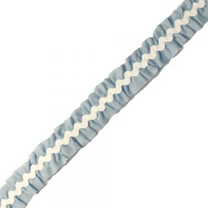 ruban plisse serpentine 2 cm bleu ciel clair