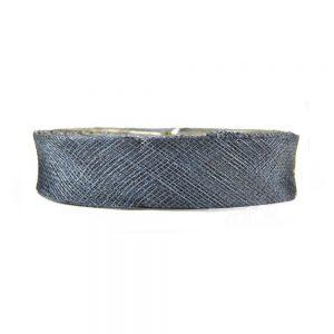ruban sinamay 2 cm bleu marin