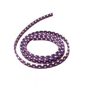 spaghetti a pois 7 mm violet