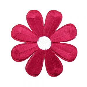 thermocollant marguerite brodee rouge