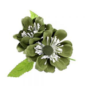 FLOR ROSAURA verde seco