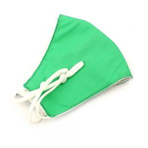 Mascarilla de tela simétrica liso verde agua