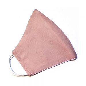 Masque ajusté avec filtre rose blush